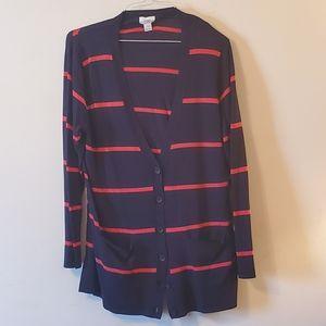 Old navy striped cardigan sweater XL